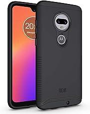 TUDIA Motorola Moto G7 / G7 Plus Case, Slim-Fit Heavy Duty [Merge] Extreme Protection/Rugged but Slim Dual Layer Case for Motorola Moto G7 / G7 Plus (Matte Black)