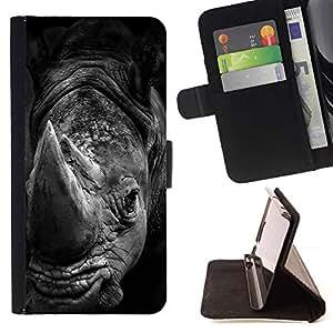 Momo Phone Case / Flip Funda de Cuero Case Cover - Blanc Afrique de nature animale - Sony Xperia Z5 5.2 Inch (Not for Z5 Premium 5.5 Inch)