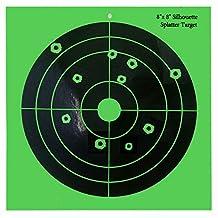 """Remarkabel Splatter Targets Paper Card - 8"""" Round Shooting Upon Impact - Gun - Rifle - Pistol - AirSoft - BB Gun - Air Rifle"""