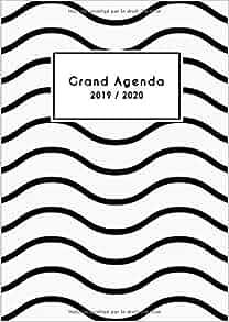 Amazon.com: Grand Agenda 2019 2020: Mon Agenda au Quotidien ...