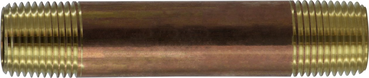 Midland 40-064 Brass Nippple 3 Length 1//2 Diameter Midland Metal 3 Length 1//2 Diameter