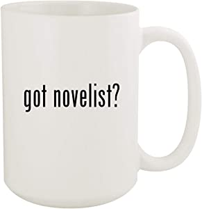 got novelist? - 15oz White Ceramic Coffee Mug