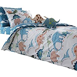 Merryfeel 100% cotton dinosaur print Duvet Cover Set for Kids Bedding - Twin