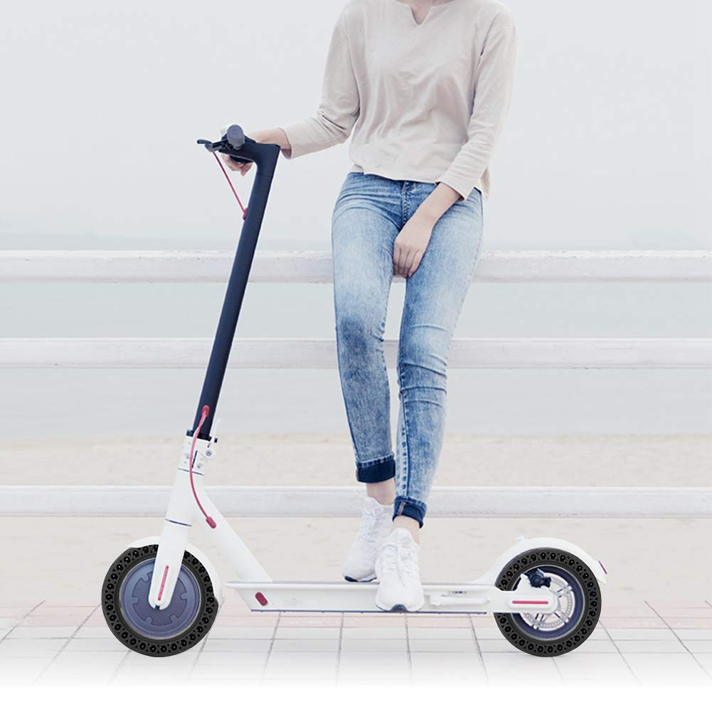 Vbestlife. Solid Electric Scooter Tire, Durable Anti-Explosion Tire Tubeless Solid Tyre Replacement Wheels for Xiaomi Mijia M365 Ninebot Electric ...