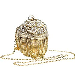 Evening Ball Purse With Gold Dazzling Full Rhinestone