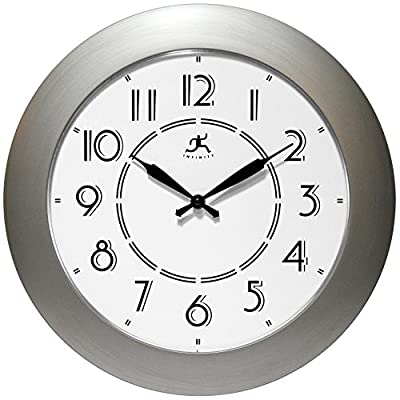Infinity Instruments Berkeley Wall Clock - Dimensions: 14.37L x 1.970W x 14.37H in. Choose from available finish Retro design - wall-clocks, living-room-decor, living-room - 51xcTkHfHyL. SS400  -