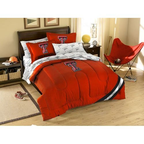 Tech Twin Sheet Set - The Northwest Company NCAA Texas Tech Red Raiders Twin Bedding Set
