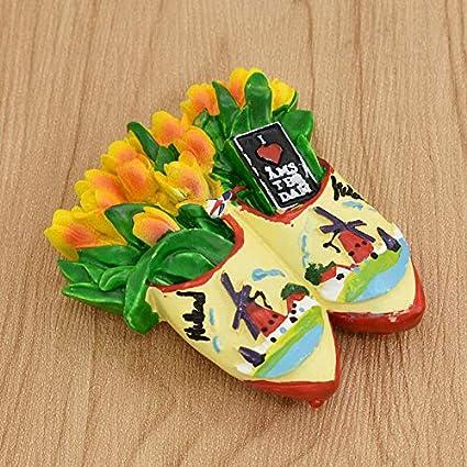 Ximai Tulipe dAmsterdam Magnet Aimants Frigo Aimant de R/éfrig/érateur Tourisme Pays Bas Netherlands