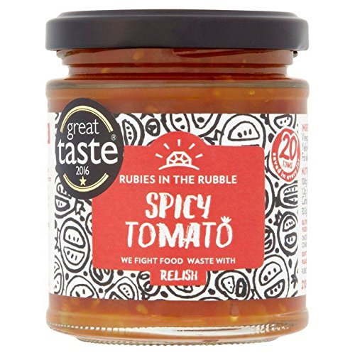 Rubies in the Rubble Spicy Tomato Relish - 210g (0.46lbs) (Relish Ruby)