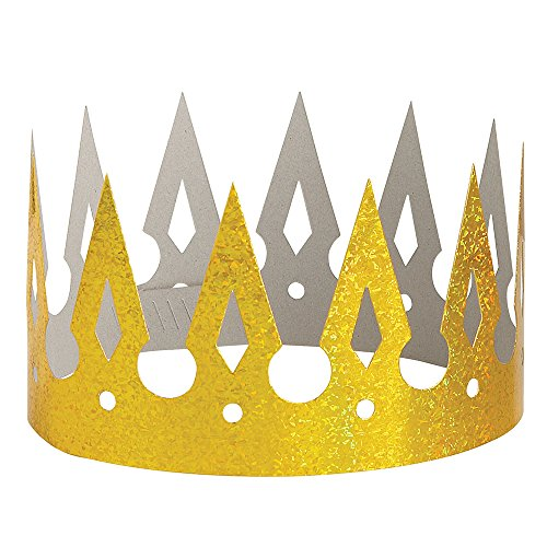 Prismatic Gold Paper Crown - Halloween Costume Contest Winners