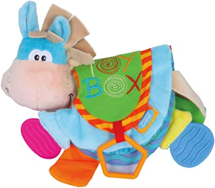 Newborn Baby Rattles Teether Toys Donkey Cloth Book Toddlers Early Education Toy