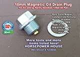 "(Qty 1) 18mm (11/16"") x 1.5 Pitch Magnetic Oil Drain Plug Bolt and Washer for Oil Pan on V Rod Harley Davidson V-Rod V Rod - Replaces OEM 26103-01K / 26542-01K - MADE IN USA"