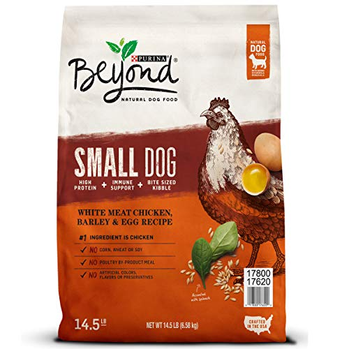 Purina Beyond Natural, High Protein Small Breed Dry Dog Food; Chicken, Barley & Egg Recipe - 14.5 lb. Bag