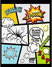 """Blank Comic Book For Kids : Create Your Own Comics With This Comic Book Journal Notebook: Over 100 Pages Large Big 8.5"""" x 11"""" Cartoon / Comic Book With Lots of Templates"""