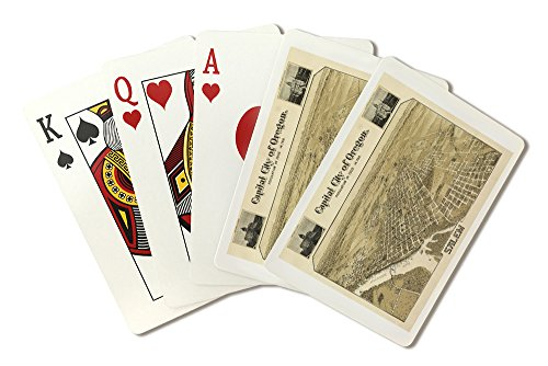Salem, OR Panoramic Map - 1905 (Playing Card Deck - 52 Card Poker Size with Jokers)