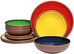 Melange 12-Piece 100% Melamine Dinnerware Set (Clay Collection ) | Shatter-  sc 1 st  Amazon.com & Amazon.com: Commercial Grade - Dinnerware Sets / Dining ...
