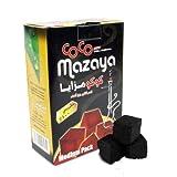 100% Natural CoCo Mazaya Charcoal Coal Great for Hookah Shisha - Medium Pack (Quantity 48 Pieces)