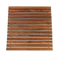 SeaTeak 60020 Teak Roll Up String Mat, Oiled Finish