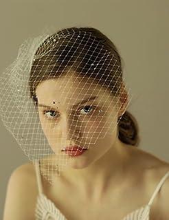 wedding veils FJY TS 1 Strato Bordo Tagliato Veli da Sposa Veletta con con  Diamantini con Balze 1cc2bb061f10