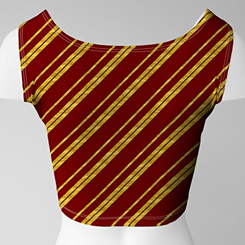 Harry Potter Inspired House Stripes Ladies Crop Top Gryffindor eGSDJrZHAt