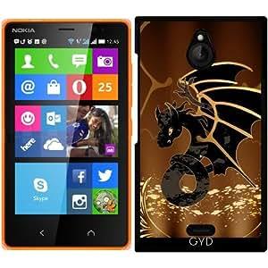 Funda para Nokia X2 - Dragón En Oro Y Negro by nicky2342