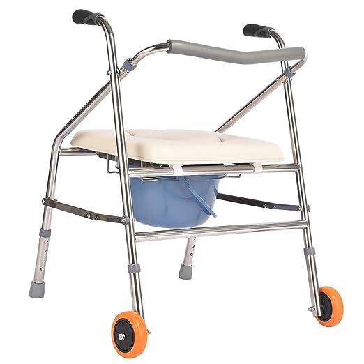 YX Andador, silla de transporte para ducha Silla de inodoro para ...
