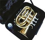 New Brass Pocket Trumpet w/case-Approved+Warranty