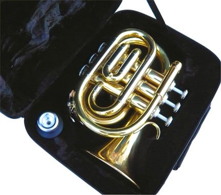 New Brass Pocket Trumpet w/case-Approved+Warranty by other