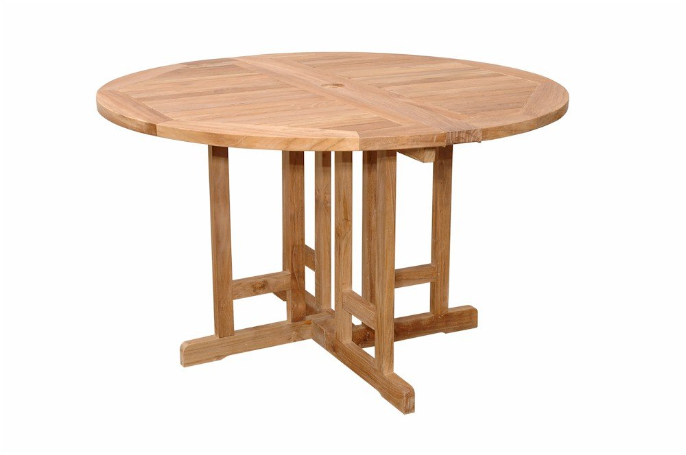 Anderson Teak TBF-047BR Butterfly Round Folding Table