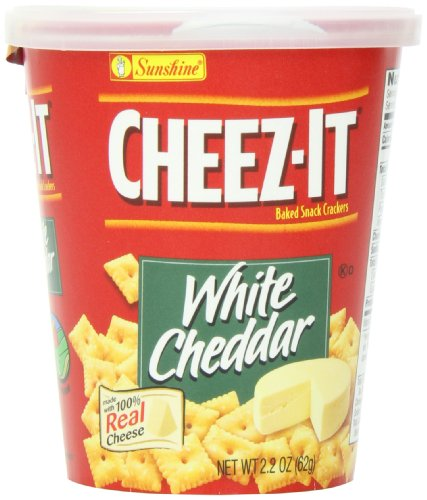 Cheez-It Cracker Cup, White Cheddar, 2.2 Ounce (Pack of 10)