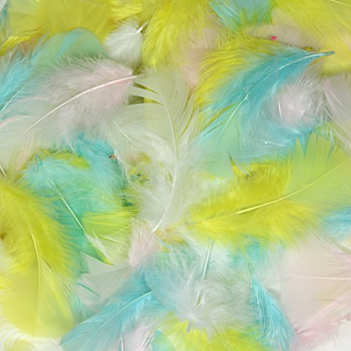 Creativity Street Turkey Plumage Feathers, Spring Colors, 2-in. to 5-in., 0.5-oz. Pack (AC4500-03)