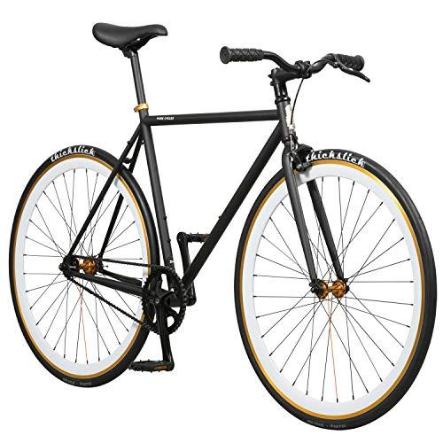 - Pure Fix Original Fixed Gear Single Speed Bicycle, Mike Black/White, 54cm/Medium