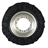 Speedway Motors Real Skin Late Model Tire Cover, 4 Piece, Black
