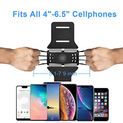 VUP Running Armband [All Screen Friendly, Detachable and 360°Rotatable] for iPhone Xs Max/Xs/XR/ 8 Plus/ 7 Plus/ 6s Plus/ 6, Galaxy S10 Plus/ S9 Plus/ S8/ A8 Plus, Note 4/5/8/9, Google Pixel 3/2 XL by VUP (Image #2)