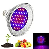 Cheap Derlight 52W Led Grow Light Bulb, Grow Lights for Indoor Plants, Plant Bulb Growing Lamp for Hydroponics Indoor Garden Greenhouse (E27 socket)