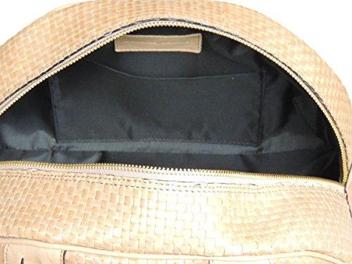 In Piccola Vera Mano Fatto A Variante Luna amp;a Prodotto 2 A Donna Artigianale Borsa Italia Pelletterie Mezza Pelle 0446q1Fx