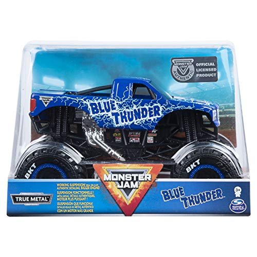 Monster Jam, Official Blue Thunder Monster Truck, Die-Cast Vehicle, 1: 24 Scale (24 Scale)
