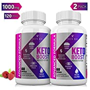 (2 Pack | 120 Capsules) Best Keto Diet Pills from Shark Tank w Carb Blocker, Belly Fat Supplement - Exogenous Ketones - Ketosis for Women Men - Healthy Weight Management - Metabolism Burner BHB Salts