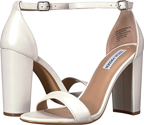 fafc66bdb85 Galleon - Steve Madden Women s Carrson Heeled Sandal White Leather 11 M US