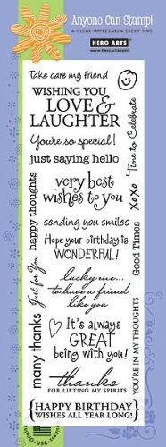 Stylish and Bold Card Messages by Hero Arts