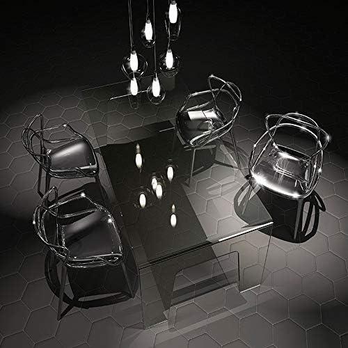Chaise De Salle À Manger Transparente De Mode avec Accoudoir Chaise en Cristal Chaise De Club D'hôtel Chaise De Dos De Maquillage Chaise De Dressing Simple Chaise en Acrylique,B