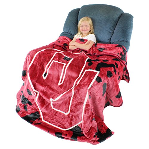 College Covers Oklahoma Sooners Throw Blanket/Bedspread from College Covers