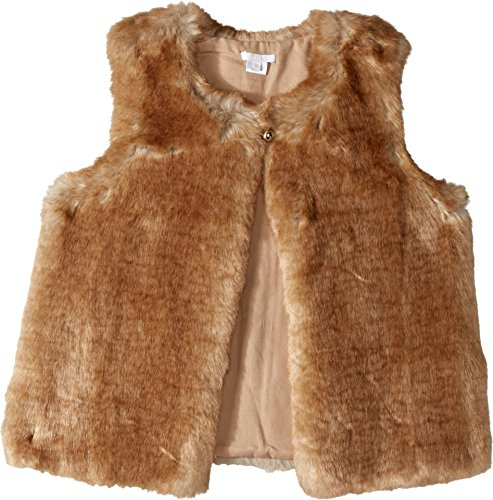 Chloe Kids Girl's Sleeveless Faux Fur Vest (Big Kids) Nude 14 (Big Kids) by Chloe