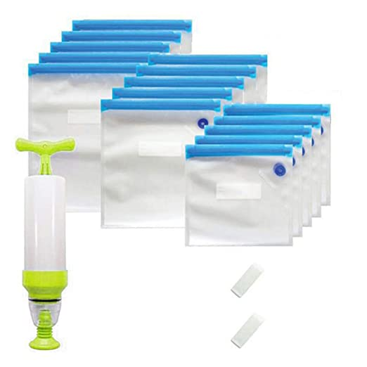 Onetek - 18 bolsas de envasado al vacío reutilizables con ...