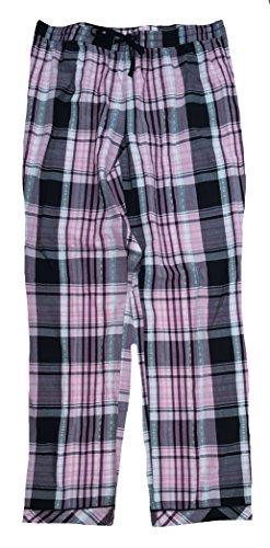 Secret Treasures Black & Pink Rose Incarnate Plaid Woven Poplin Sleep Pants - (Pink And Black Plaid)