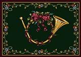 Milliken Winter Seasonal French Horn Novelty Rug 3'10'' x 5'4''