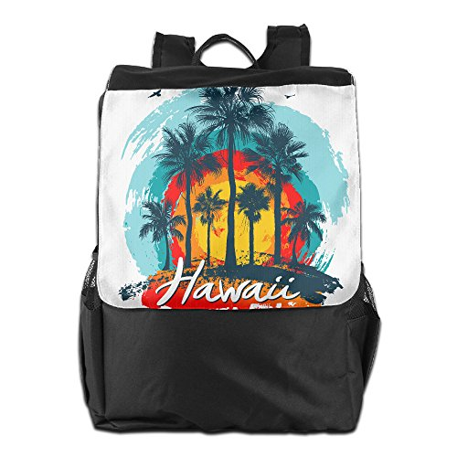 ZHONGRANINC Vintage Hawaiian Islands Personality Outdoor Men And Women Travel Backpack Shoulder - Shopping Hawaii In Hilo
