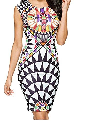 Printed 1 Fashion Bodycon Tank Digital Dress Women's Floral Betusline Mini Sexy IFSIq