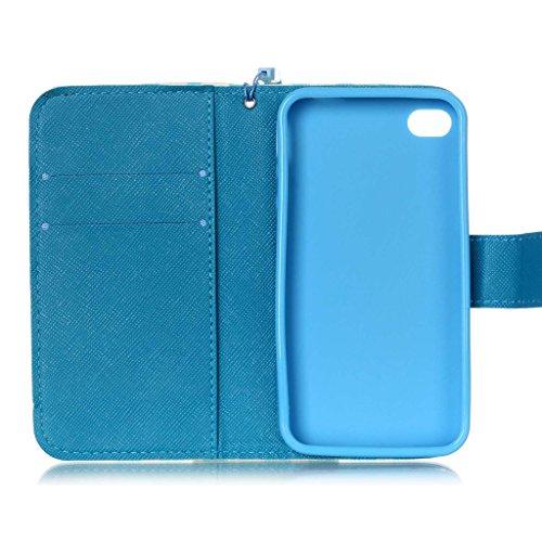 iPhone 4/4S Coque , Apple iPhone 4/4S Coque Lifetrut® [ ailes d'anges ] [Wallet Fonction] [stand Feature] Magnetic snap Wallet Wallet Prime Flip Coque Etui pour Apple iPhone 4/4S