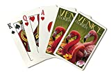 Venice, Florida - Flamingos (Playing Card Deck - 52 Card Poker Size with Jokers)